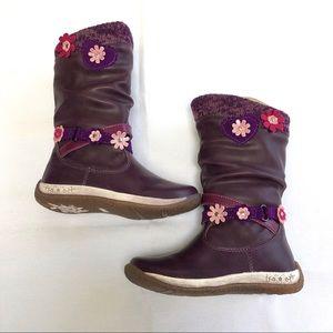 Beeko BKO purple pink flower boots